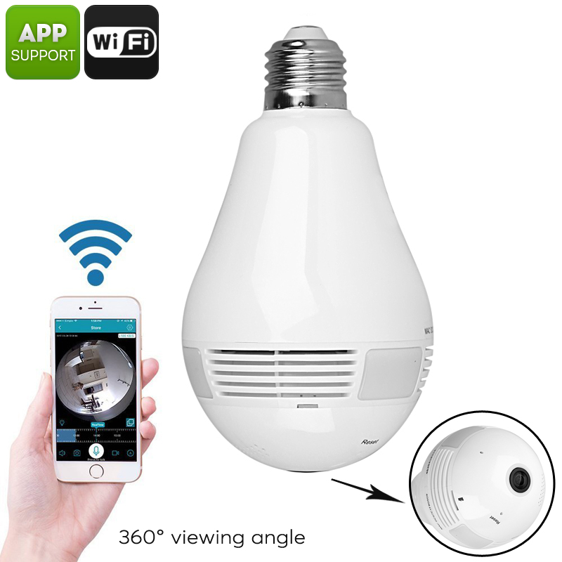 Wifi Spy Camera Bulb 360 View Day Night Vision Buy Best